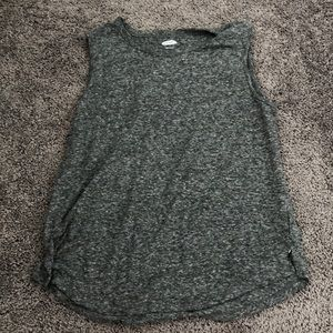Old navy grey and white tank size L